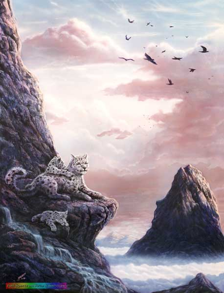 Upper Realms series: Snow Leopard